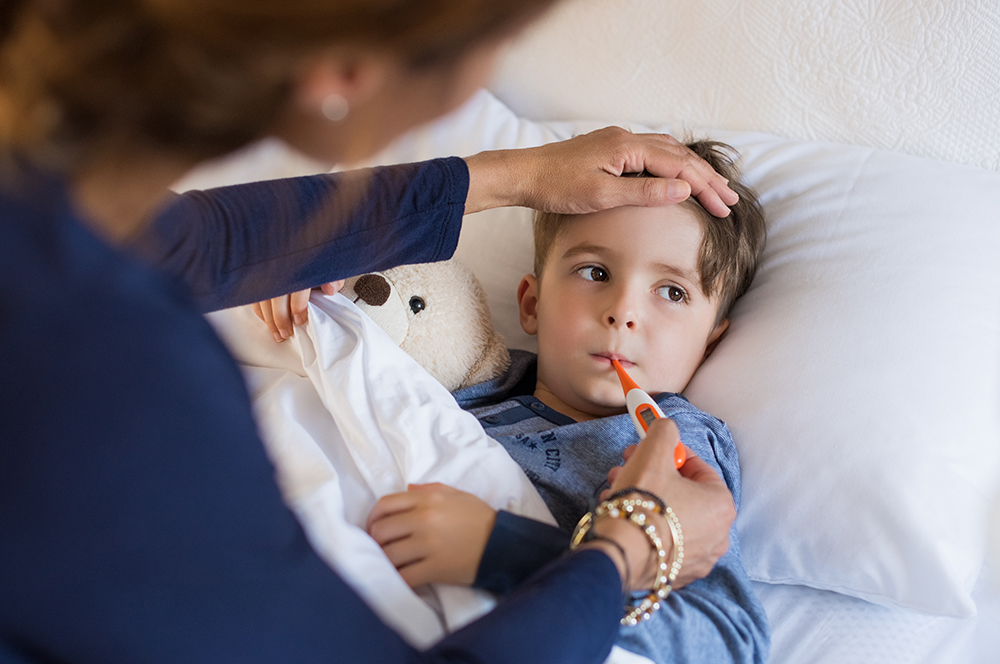 photo of sick child